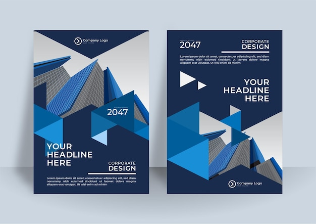 Fundo de modelo de design ou brochura de capa corporativa para design de negócios. modelo de layout de folheto de negócios moderno em tamanho a4.