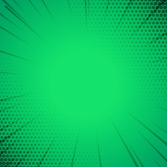 Fundo de modelo de estilo de quadrinhos verde