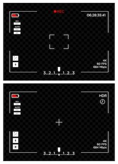 Fundo de modelo de exibição de tela de gravação de câmera