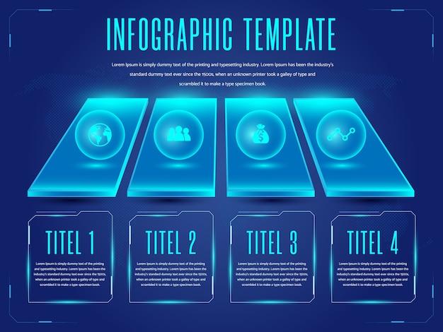Fundo de modelo de infográficos futuristas