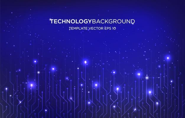 Fundo de modelo de plano de fundo de tecnologia digital