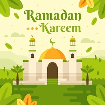 Fundo de modelo de ramadan kareem