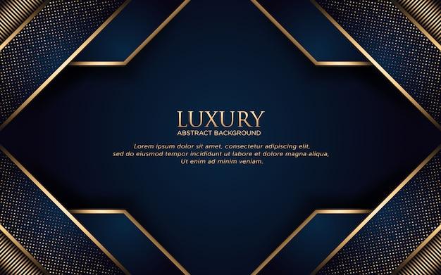 Fundo de modelo geométrico de luxo com listra dourada e glitter