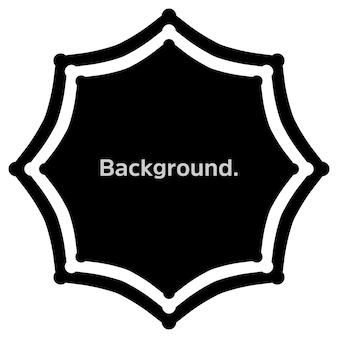 Fundo de modelo simples de moldura redonda