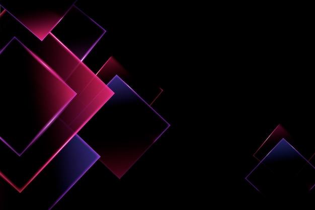 Fundo de modelos geométricos de luzes de néon