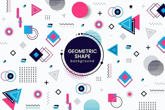 Fundo de modelos geométricos em design plano