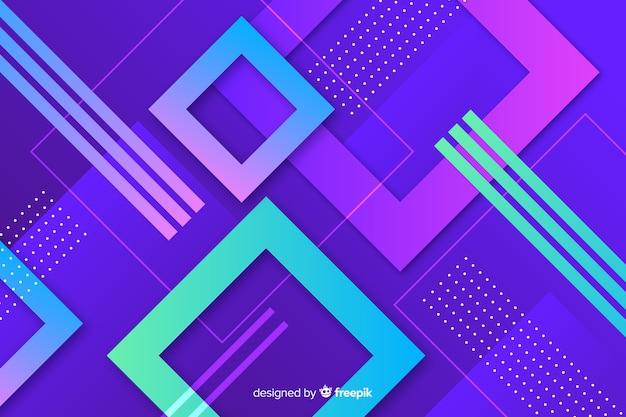 Fundo de modelos geométricos gradiente