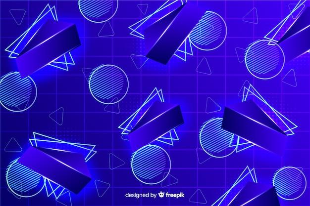Fundo de modelos geométricos retrô