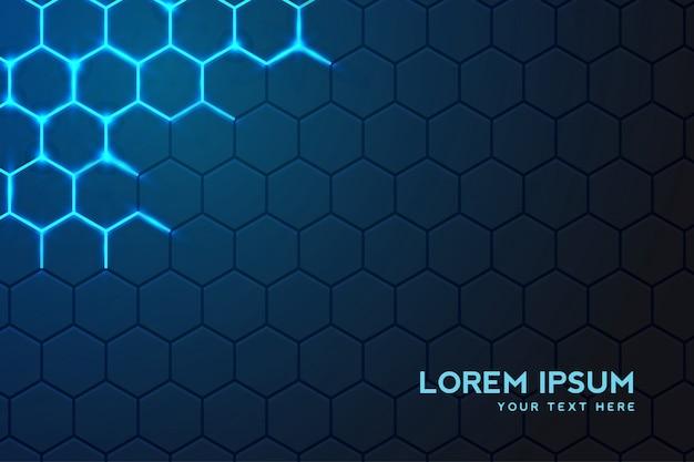 Fundo de moderna tecnologia com fundo hexagonal