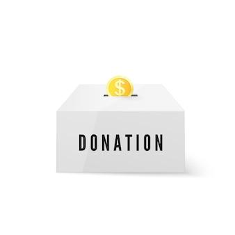 Fundo de moeda de ouro em caixa de dinheiro