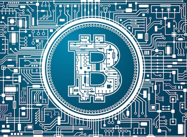 Fundo de moeda digital bitcoin