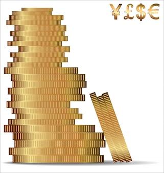 Fundo de moedas de ouro