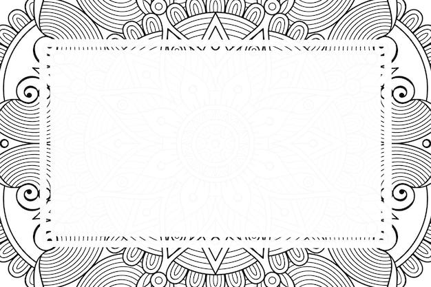 Fundo de moldura de mandala ornamental luxuosa