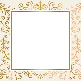 Fundo de moldura de ouro