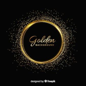 Fundo de moldura dourada cintilante de luxo