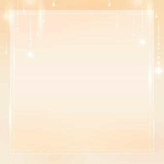 Fundo de moldura dourada quadrada