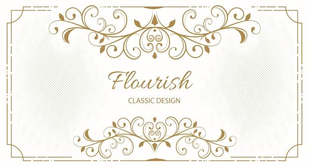 Fundo de moldura floral elegante