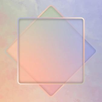 Fundo de moldura quadrada
