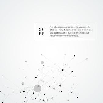 Fundo de molécula de ciência de conexão