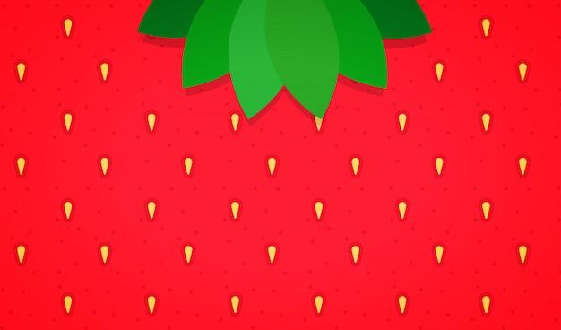 Fundo de morango minimalista
