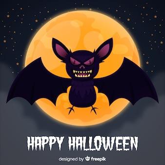 Fundo de morcego halloween criativo