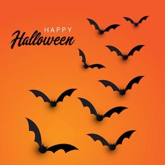 Fundo de morcegos de halloween