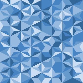 Fundo de mosaico azul. padrão geométrico sem emenda. estrelas feitas de triângulos. textura de cristal. ilustração eps10 do vetor.