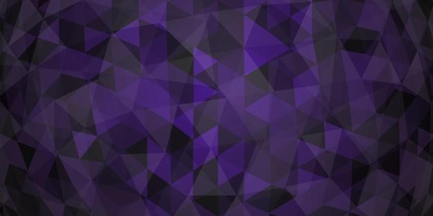 Fundo de mosaico colorido abstrato de triângulos translúcidos em cores roxas escuras