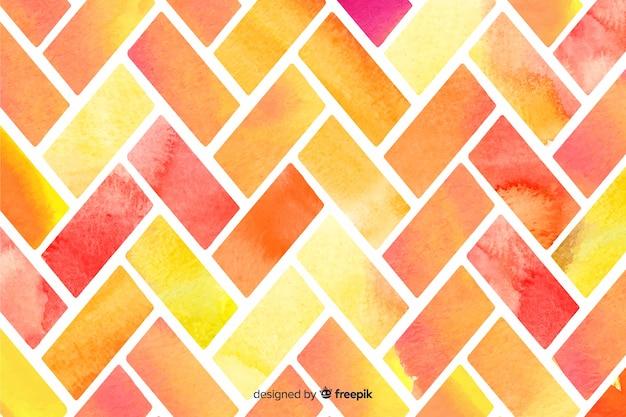 Fundo de mosaico de cores quentes