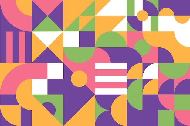 Fundo de mosaico de design plano