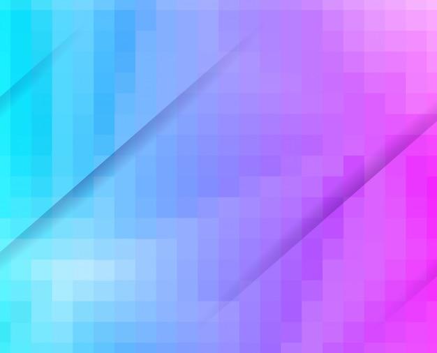 Fundo de mosaico de grade azul roxo