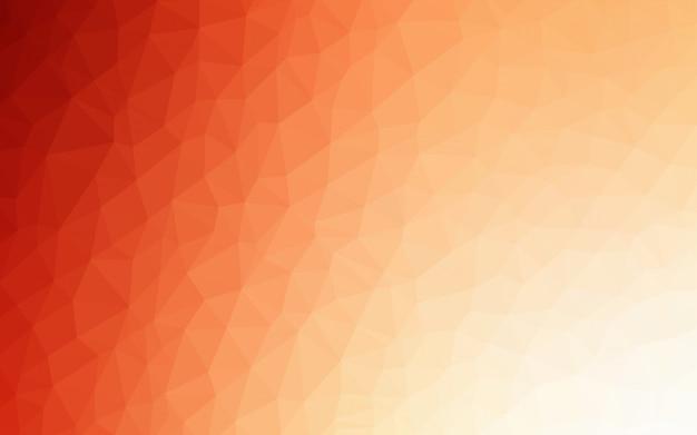 Fundo de mosaico de luz laranja vector triângulo.
