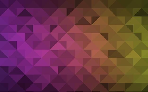 Fundo de mosaico de triângulo de vetor amarelo rosa escuro