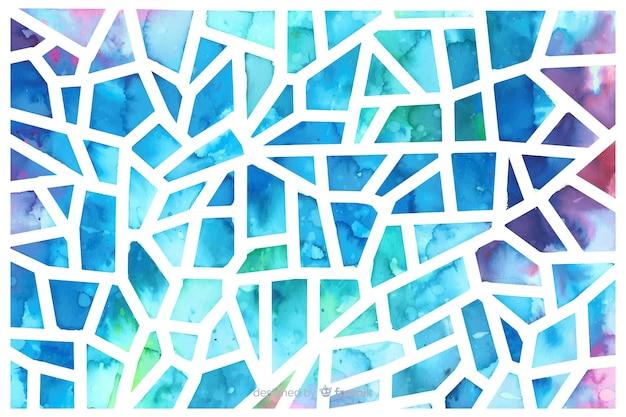 Fundo de mosaico de vidro triângulo aquarela