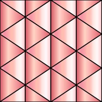 Fundo de mosaico em ouro rosa