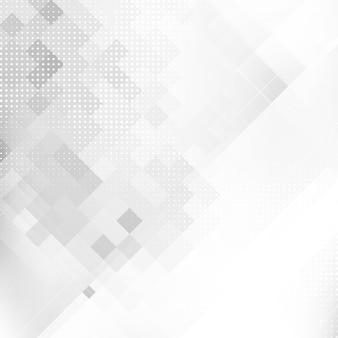 Fundo de mosaico geométrico de cor cinza abstrato