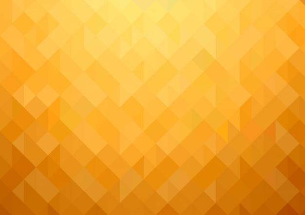 Fundo de mosaico geométrico ouro-laranja