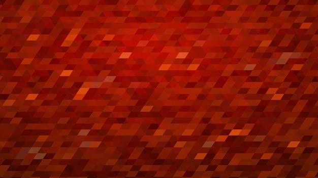 Fundo de mosaico gradiente colorido abstrato em cores vermelhas