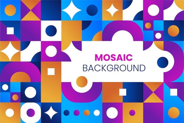 Fundo de mosaico gradiente