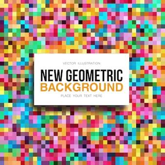 Fundo de mosaico multicolorido