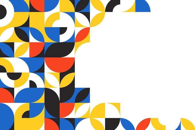 Fundo de mosaico plano colorido