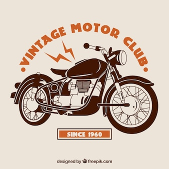 Fundo de motor do vintage club