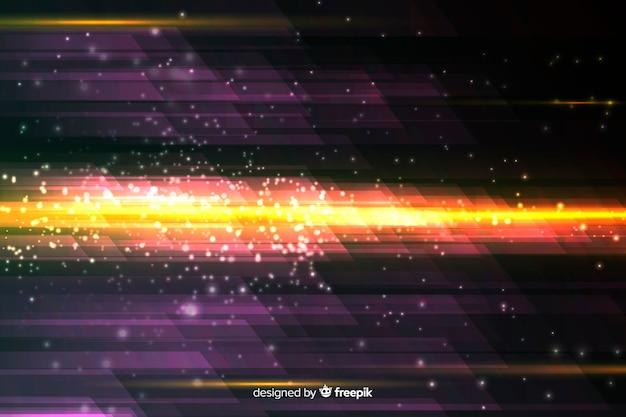 Fundo de movimento de luz com formas abstratas
