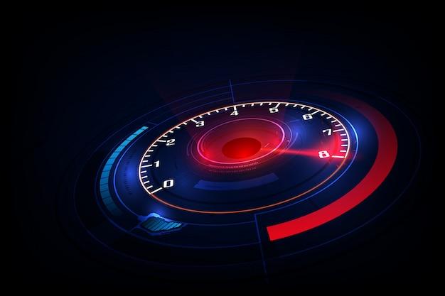 Fundo de movimento de velocidade com carro de velocímetro rápido