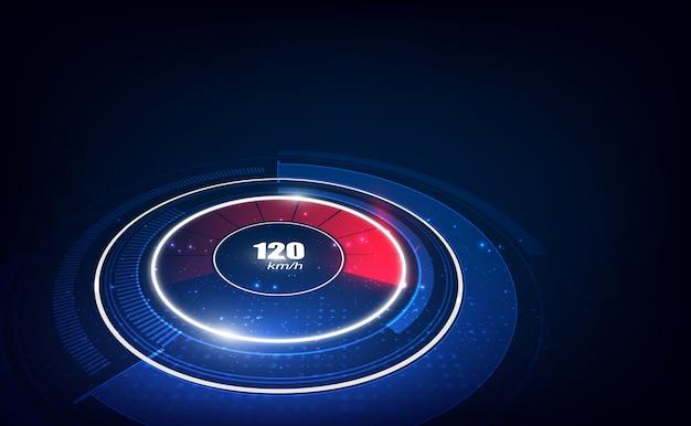 Fundo de movimento de velocidade com velocímetro rápido