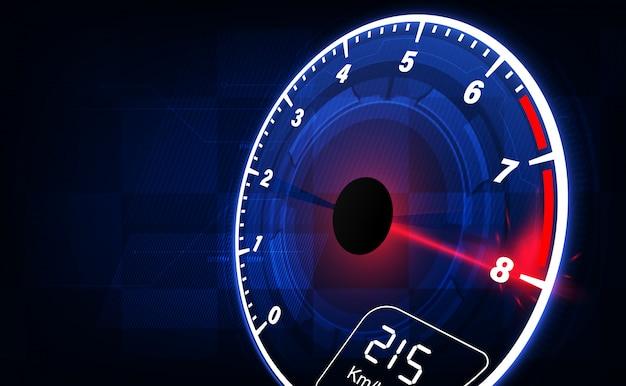 Fundo de movimento de velocidade com velocímetro