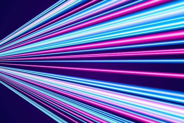 Fundo de movimento de velocidade de néon de estilo realista