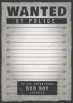 Fundo de mugshot de polícia