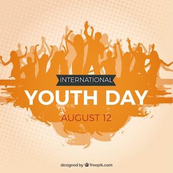 Fundo de multidão de jovens