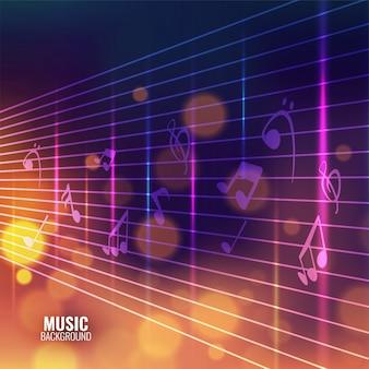 Fundo de música com notas musicais.